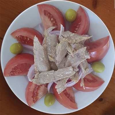 ensalada con ventresca atun